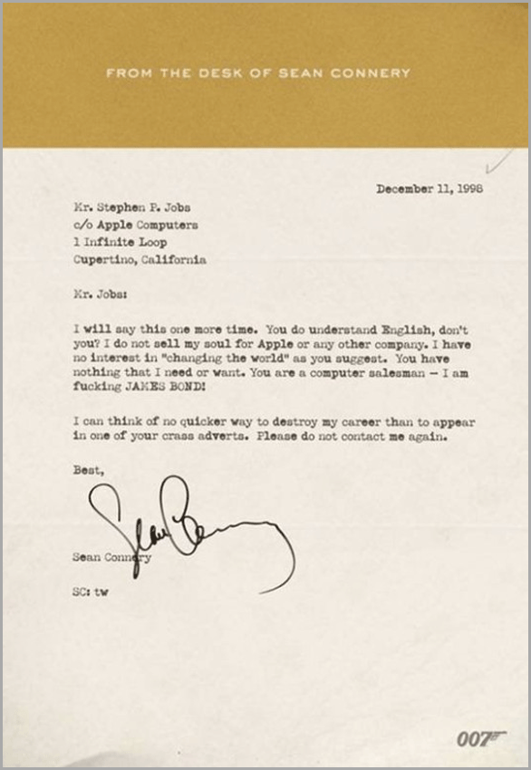 007 lettre